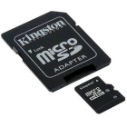 SD Micro 8GB HC Kingston 1Adapter CL4 SDC4/8GB