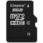 SD Micro 8GB HC Kingston Adapter nélkül CL4 SDC4/8GBSP
